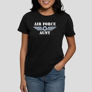 Air Force Aunt Women's Dark T-Shirt
