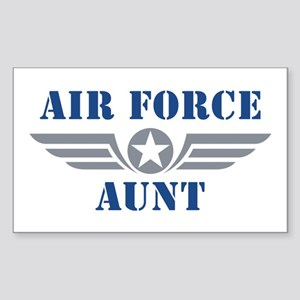 Air Force Aunt Sticker (Rectangle)