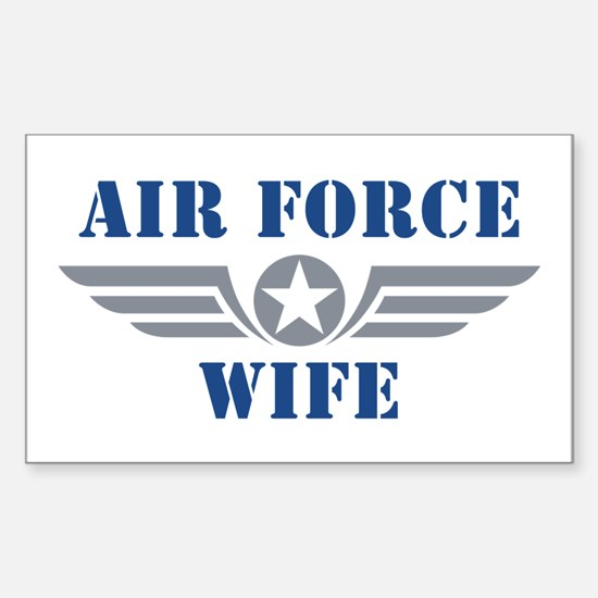 Air Force Wife Sticker (Rectangle)