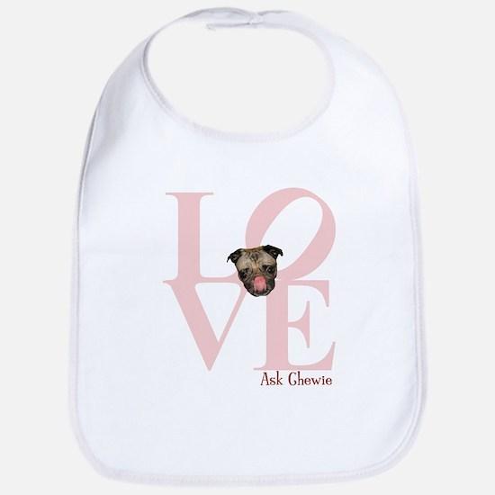 Pug Love Bib