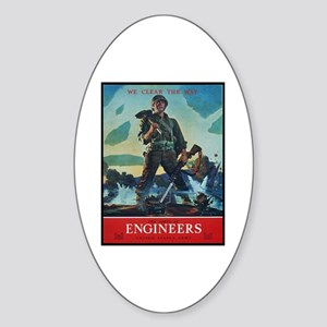 Army Corps of Engineers Oval Sticker