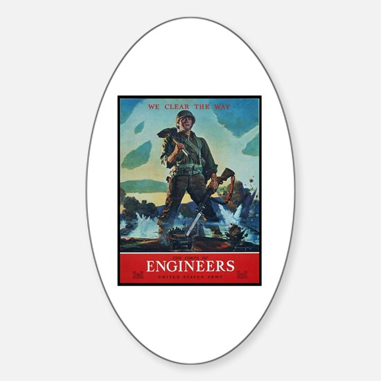 Army Corps of Engineers Oval Decal