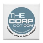 The Corp Dot Com Tile Coaster
