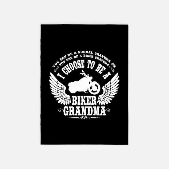 Biker Grandma 5'x7'Area Rug