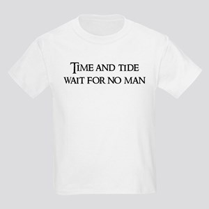 Time and tide wait Kids T-Shirt