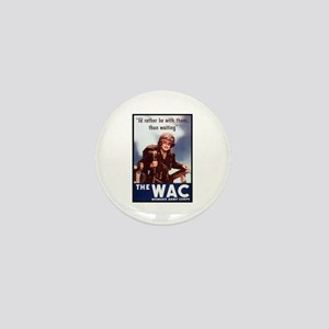 WAC Women's Army Corps Mini Button