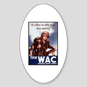 WAC Women's Army Corps Oval Sticker