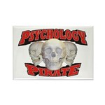 Psychology Pirate Rectangle Magnet (10 pack)