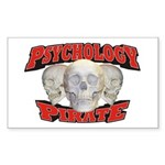 Psychology Pirate Sticker (Rectangle)