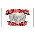 Psychology Pirate Sticker (Rectangle 10 pk)