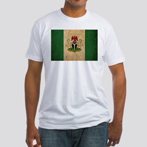 Vintage Nigeria Flag Fitted T-Shirt