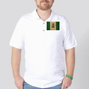 Vintage Nigeria Flag Golf Shirt