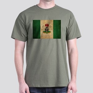 Vintage Nigeria Flag Dark T-Shirt