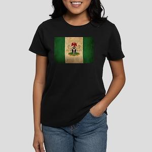 Vintage Nigeria Flag Women's Dark T-Shirt
