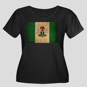 Vintage Nigeria Flag Women's Plus Size Scoop Neck