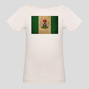 Vintage Nigeria Flag Organic Baby T-Shirt