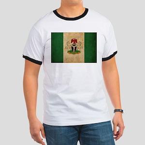 Vintage Nigeria Flag Ringer T
