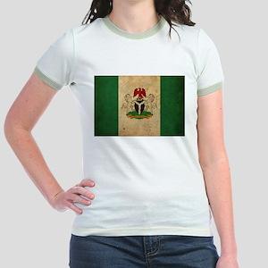 Vintage Nigeria Flag Jr. Ringer T-Shirt
