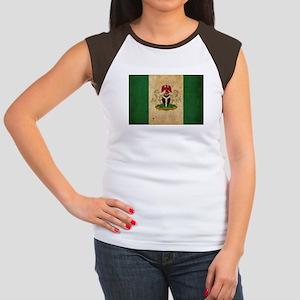 Vintage Nigeria Flag Women's Cap Sleeve T-Shirt
