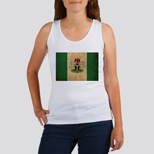 Vintage Nigeria Flag Women's Tank Top