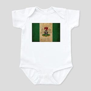 Vintage Nigeria Flag Infant Bodysuit
