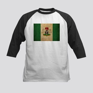Vintage Nigeria Flag Kids Baseball Jersey