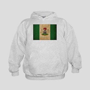 Vintage Nigeria Flag Kids Hoodie