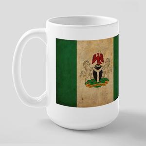 Vintage Nigeria Flag Large Mug