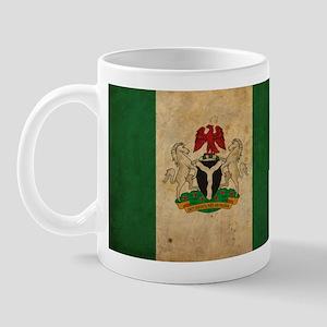 Vintage Nigeria Flag Mug