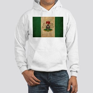 Vintage Nigeria Flag Hooded Sweatshirt