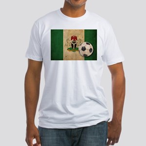 Vintage Nigeria Football Fitted T-Shirt