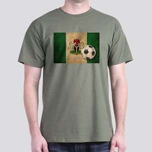 Vintage Nigeria Football Dark T-Shirt
