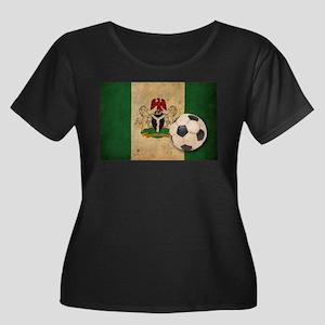 Vintage Nigeria Football Women's Plus Size Scoop N