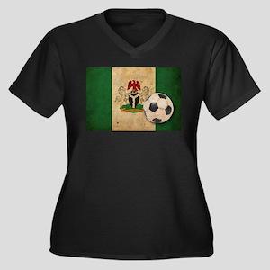 Vintage Nigeria Football Women's Plus Size V-Neck