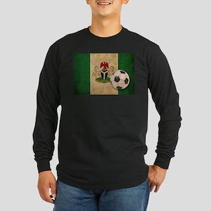 Vintage Nigeria Football Long Sleeve Dark T-Shirt