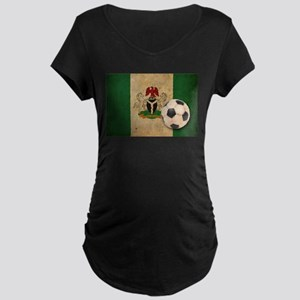 Vintage Nigeria Football Maternity Dark T-Shirt