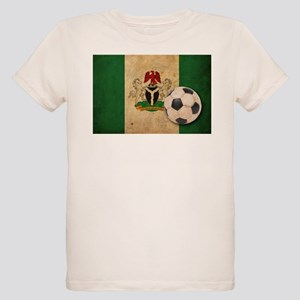 Vintage Nigeria Football Organic Kids T-Shirt