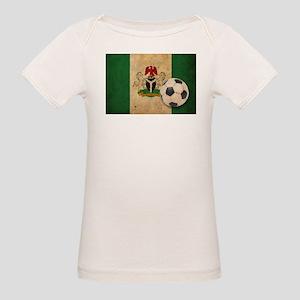 Vintage Nigeria Football Organic Baby T-Shirt