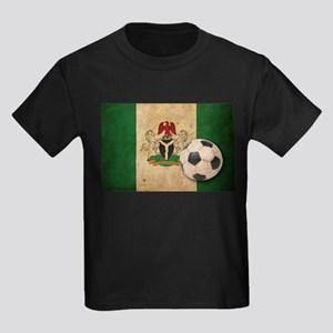 Vintage Nigeria Football Kids Dark T-Shirt