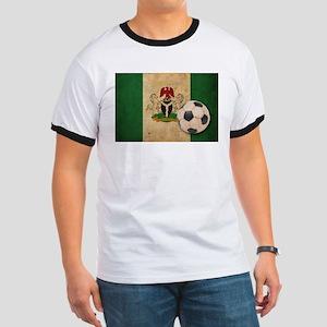 Vintage Nigeria Football Ringer T