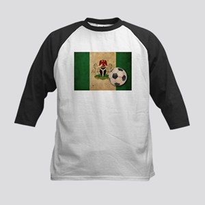Vintage Nigeria Football Kids Baseball Jersey