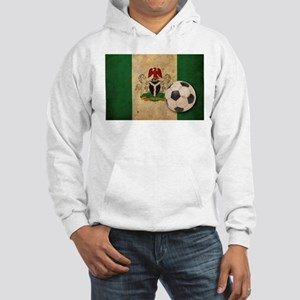 Vintage Nigeria Football Hooded Sweatshirt