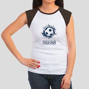 Nigeria Football Women's Cap Sleeve T-Shirt