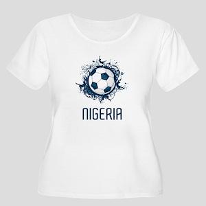 Nigeria Football Women's Plus Size Scoop Neck T-Sh