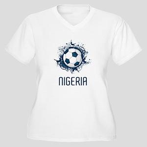Nigeria Football Women's Plus Size V-Neck T-Shirt