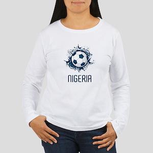 Nigeria Football Women's Long Sleeve T-Shirt