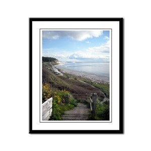 Ebey's Landing View Framed Panel Print