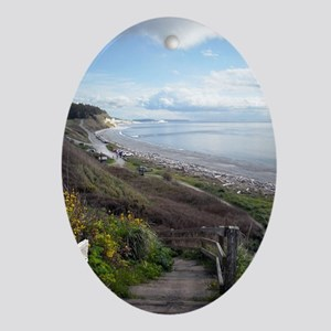 Ebey's Landing View Ornament (Oval)