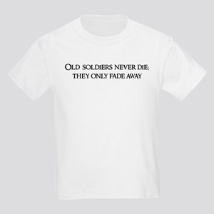 Old soldiers never die; Kids T-Shirt