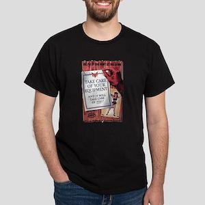 Equipment Care Propaganda (Front) Black T-Shirt